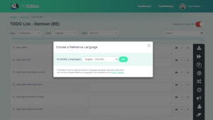 POEditor localization management platform - Set Reference Langauge
