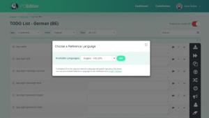 POEditor localization management platform - Set Reference Langauge