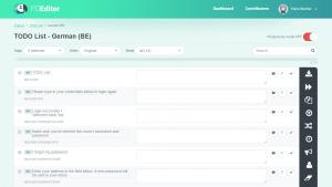 POEditor localization management platform - Language page (with Reference Language)
