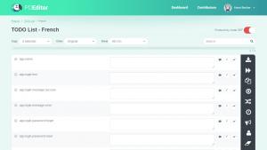 POEditor localization managent platform - Labels (Language Page)