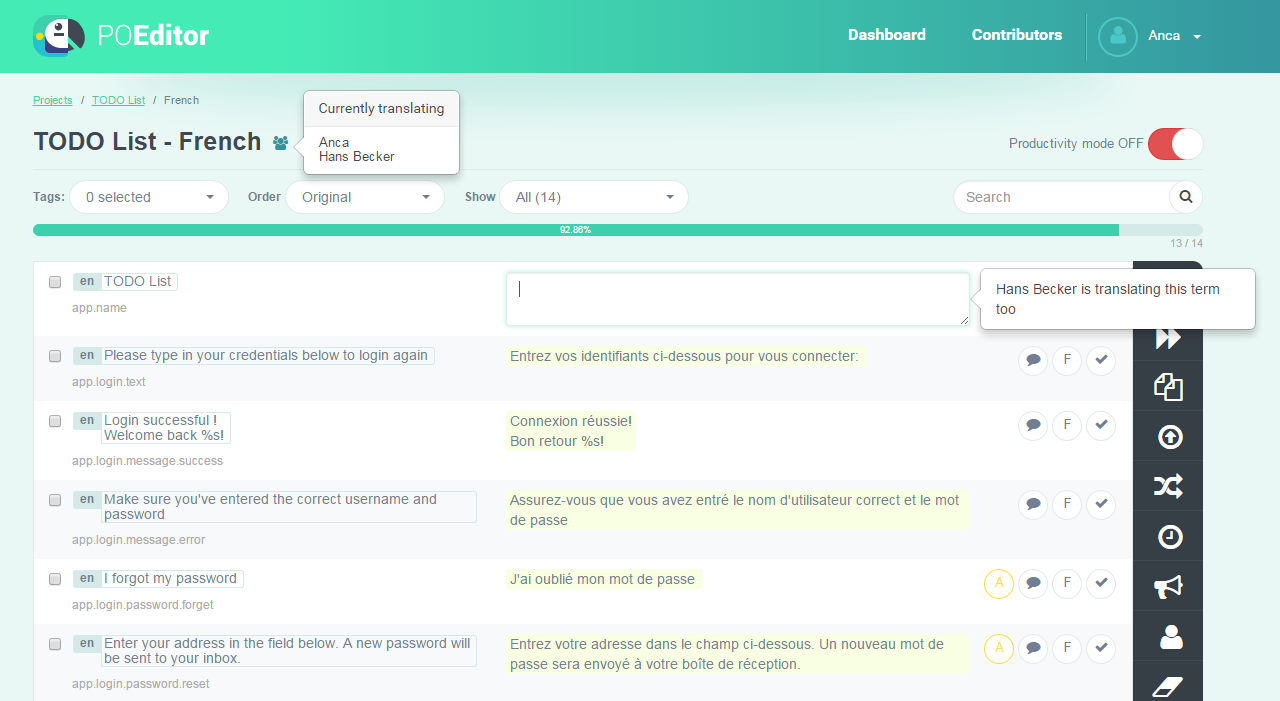 POEditor localization tool - Realtime Translation System