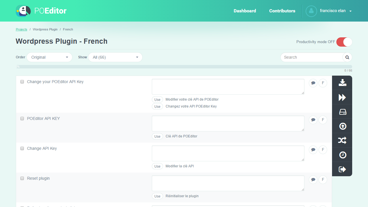 Translation Memory Suggestions - POEditor Localization Platform