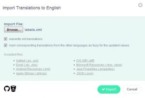 Import Language Page - POEditor Software Localization Platform