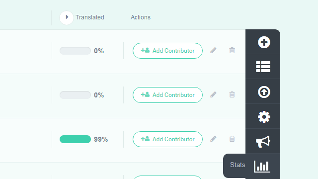 Project Stats Button (Project Page) - POEditor localization tool