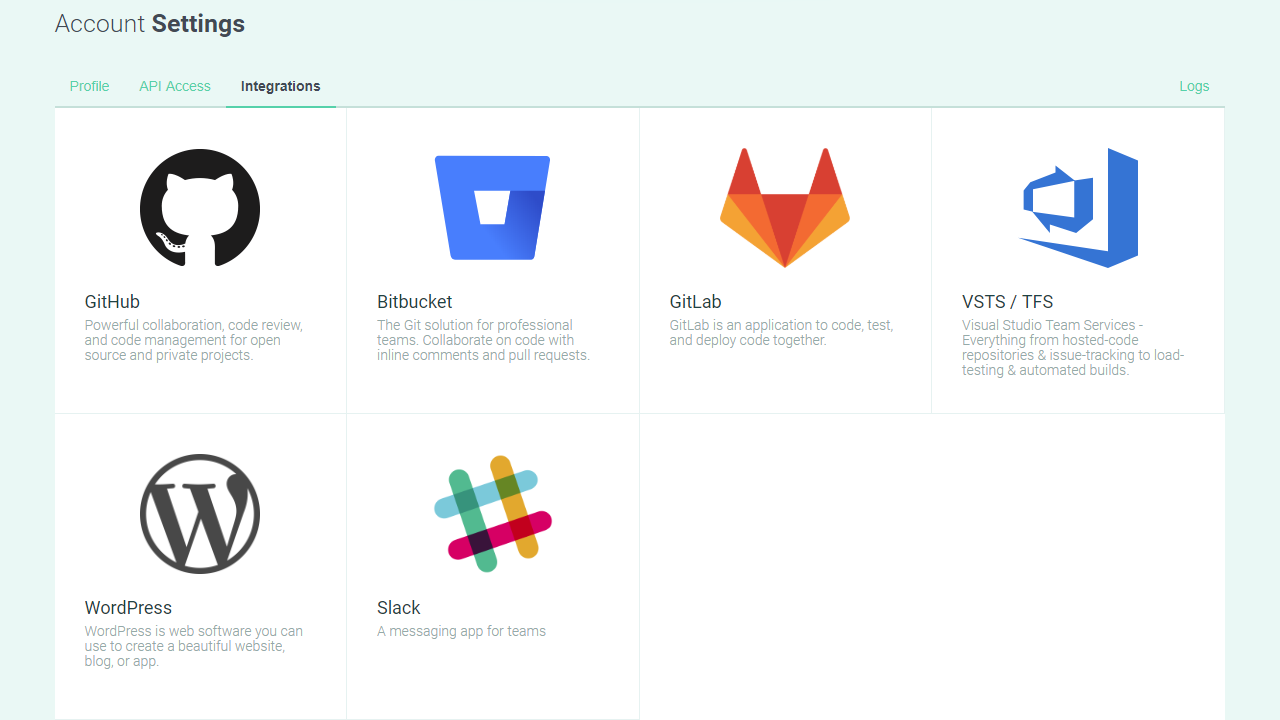 Integrations page - POEditor localization management platform