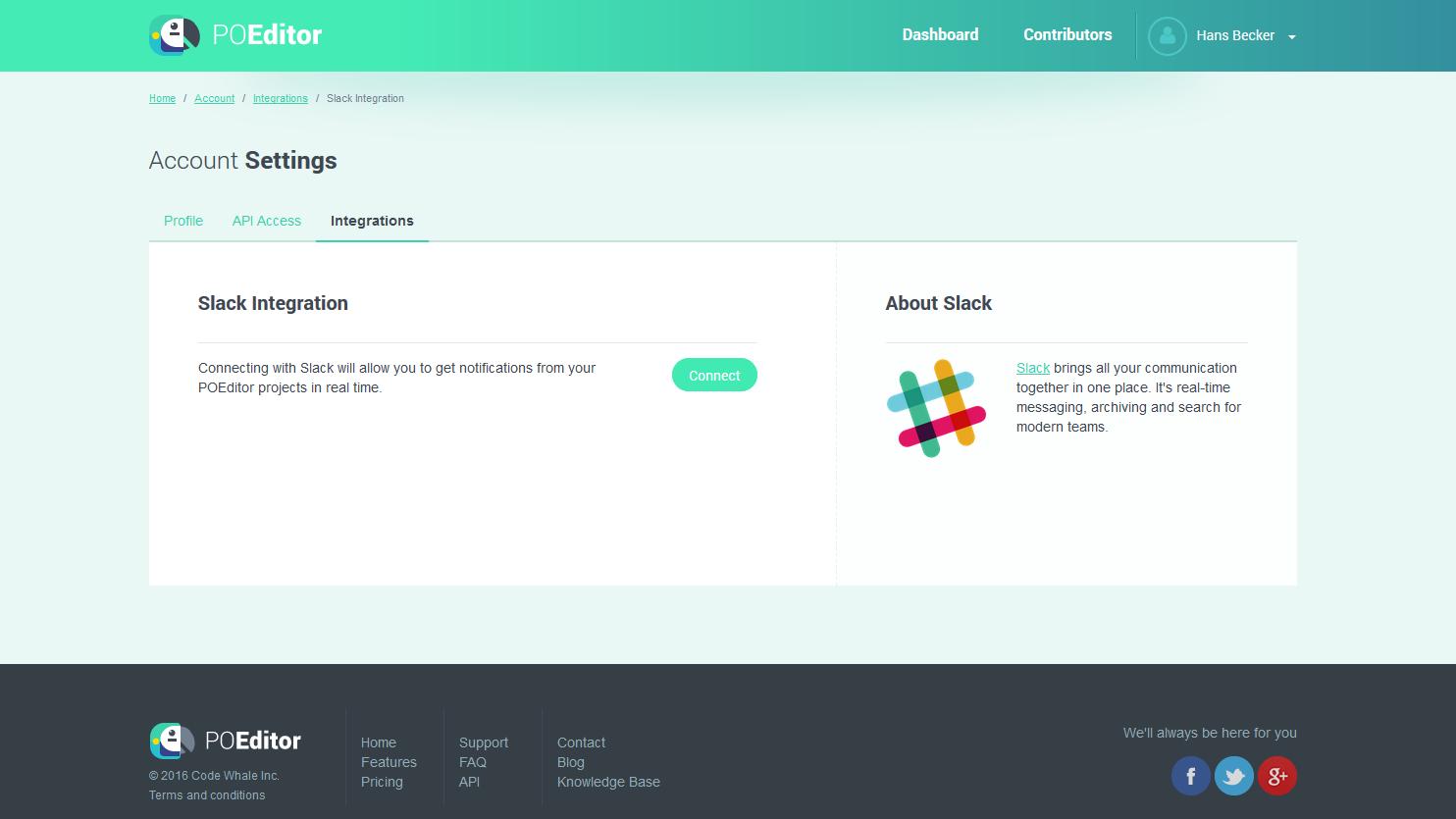 Slack Integration - POEditor Localization Platform