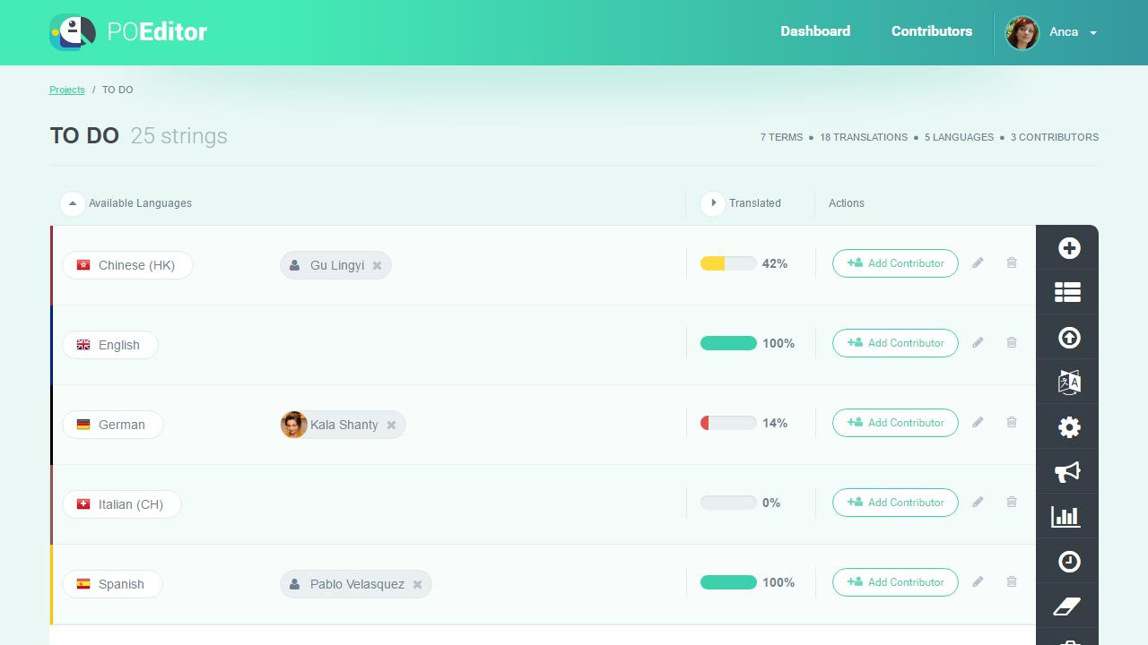 Add contributor - POEditor localization management platform