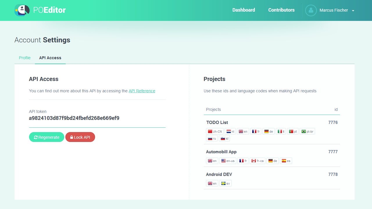 POEditor localization management platform - API Access