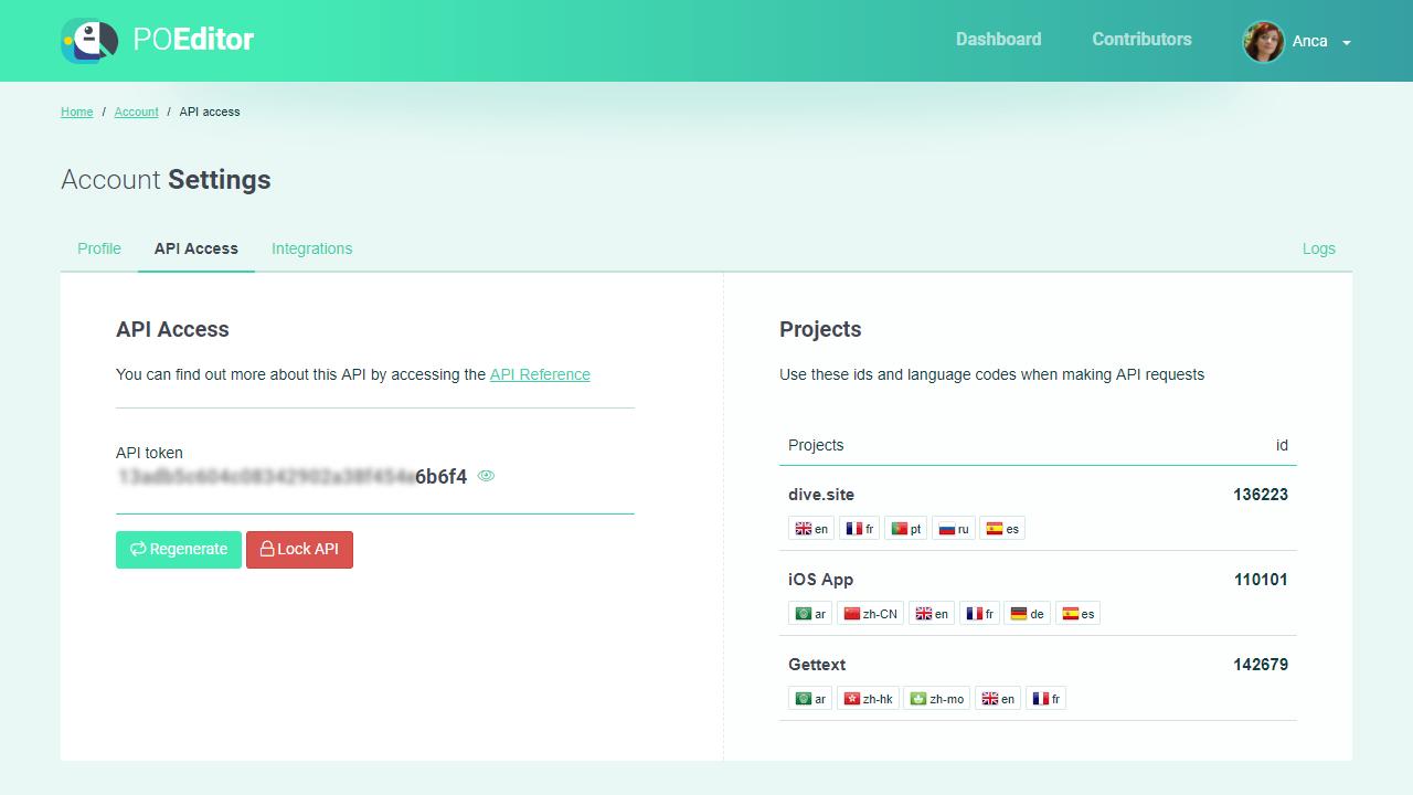 POEditor localization management platform - API Access